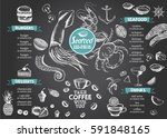 seafood menu | Shutterstock .eps vector #591848165