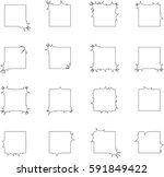 abstract square shapes   vector ... | Shutterstock .eps vector #591849422