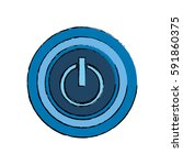 on off switch power icon vector ... | Shutterstock .eps vector #591860375