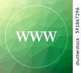 www icon www website button on