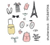 travel is always a good idea.... | Shutterstock .eps vector #591869546