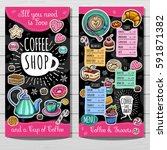 coffee shop menu template  cafe ... | Shutterstock .eps vector #591871382