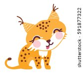 a vector illustration of cute... | Shutterstock .eps vector #591877322