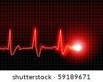 ecg electrocardiogram   Shutterstock . vector #59189671