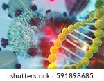 gene therapy for cancer... | Shutterstock . vector #591898685