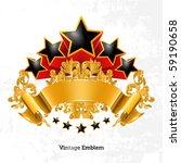vintage emblem  vector | Shutterstock .eps vector #59190658