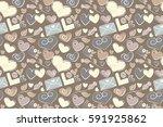 cute raster seamless pattern....   Shutterstock . vector #591925862