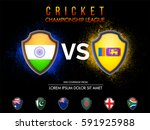 cricket match participating... | Shutterstock .eps vector #591925988