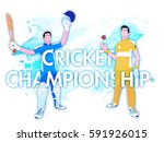 cricket championship concept... | Shutterstock .eps vector #591926015