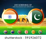 cricket match participating... | Shutterstock .eps vector #591926072