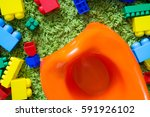 children's potty and toys. the... | Shutterstock . vector #591926102