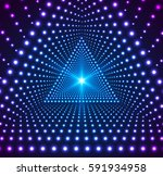 triangle grid of lights. light... | Shutterstock . vector #591934958