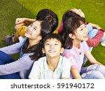 group of asian elementary... | Shutterstock . vector #591940172
