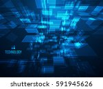 3d abstract background. digital ... | Shutterstock . vector #591945626