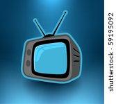 Vector Retro Television