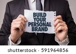 build your personal brand | Shutterstock . vector #591964856
