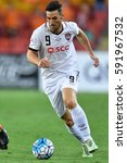 Small photo of Xisco Jimenez of Muangthong United in action during the AFC Champions League between Brisbane Roar and Muangthong United at Suncorp Stadium on February 21, 2017 in Australia.