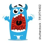cute monster | Shutterstock .eps vector #591974402