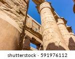 saeulen in egypt | Shutterstock . vector #591976112