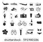 set of holiday icons signs....   Shutterstock .eps vector #591980186