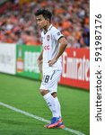 Small photo of Chanathip Songkrasin of Muangthong United in action during the AFC Champions League between Brisbane Roar and Muangthong United at Suncorp Stadium on February 21, 2017 in Australia.