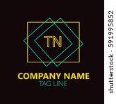 tn letter logo design sign... | Shutterstock .eps vector #591995852