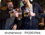 craft beer booze brew alcohol... | Shutterstock . vector #592001966