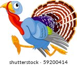 Cartoon Turkey Running ...