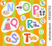 alphabet with pictures | Shutterstock .eps vector #59200702