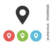 map pointer vector icon  pin... | Shutterstock .eps vector #592008068