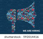 job search and career. human... | Shutterstock .eps vector #592014416