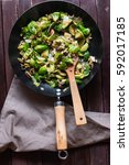 delicious sauteed brussels...