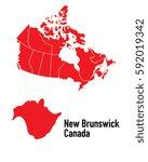 map of new brunswick canada | Shutterstock .eps vector #592019342