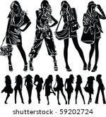 a lot of vector black... | Shutterstock .eps vector #59202724