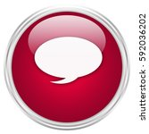 speech bubble button isolated ... | Shutterstock . vector #592036202