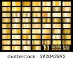 vector set of 60 gold gradients.... | Shutterstock .eps vector #592042892