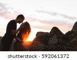 declaration of love  | Shutterstock . vector #592061372
