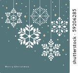 vector set of snowflakes... | Shutterstock .eps vector #59206285