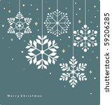 vector set of snowflakes... | Shutterstock .eps vector #59206285