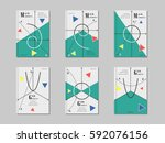 mathematics cover design.... | Shutterstock .eps vector #592076156