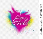 template design for holi... | Shutterstock .eps vector #592087172