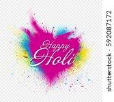 template design for holi... | Shutterstock .eps vector #592087172