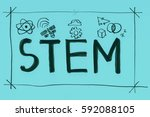 illustration of stem   science  ... | Shutterstock .eps vector #592088105