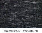 black and white fabric texture... | Shutterstock . vector #592088378
