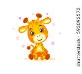 vector stock illustration... | Shutterstock .eps vector #592092572