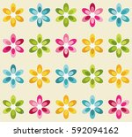 pattern with colorful flowers   Shutterstock .eps vector #592094162