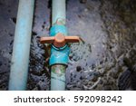 the valves at the connection... | Shutterstock . vector #592098242