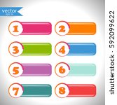 button. vector  illustration ... | Shutterstock .eps vector #592099622