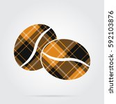 Orange  Black Isolated Tartan...