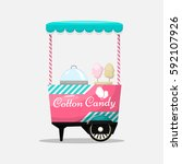 Cotton Candy Cart  Kiosk On...
